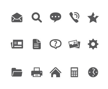 Webpage related icons Illustration