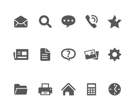 webpage: Webpage related icons Illustration