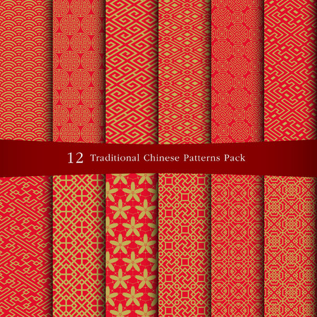 vector ornaments: Chinese patterns design