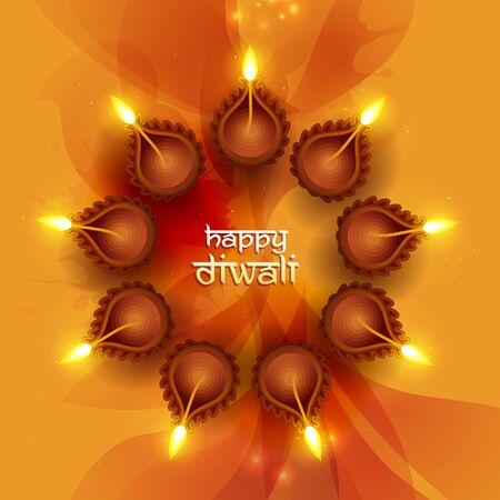 indische muster: Diwali festlichen Hintergrund Illustration