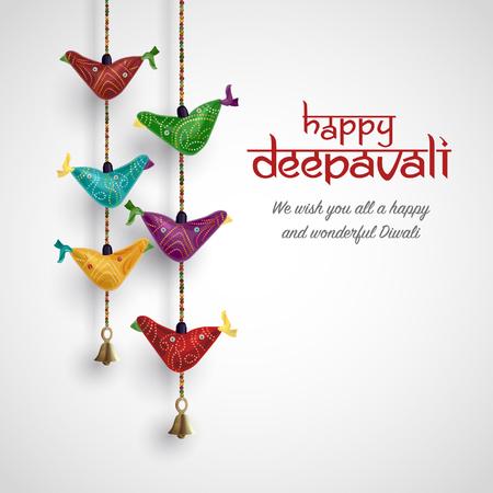 Diwali festival vector illustration