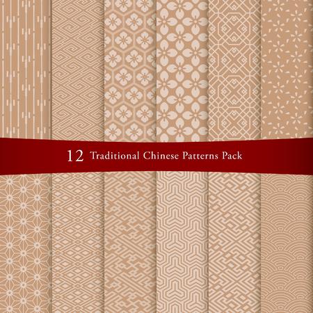 Chinese pattern illustration.