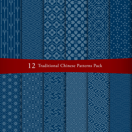 Chinese seamless pattern pack