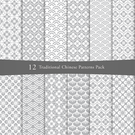 Chinese pattern pack Vector illustration.