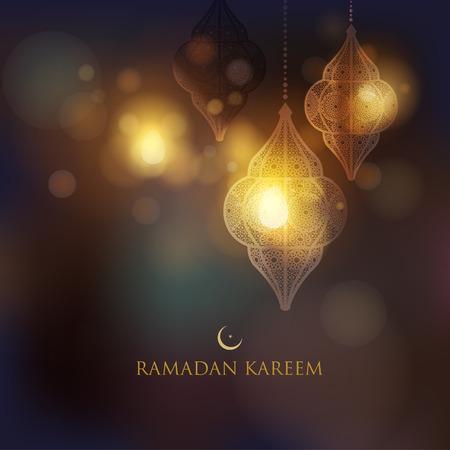 Ramadan greetings card template vector illustration Stock Illustratie