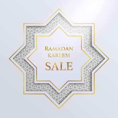 Ramadan greetings background on white