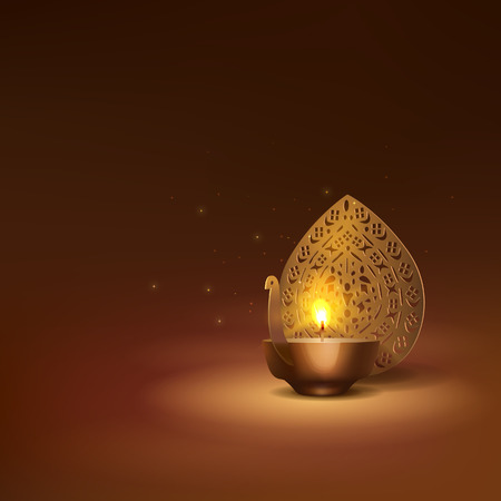 Deepavali greetings background