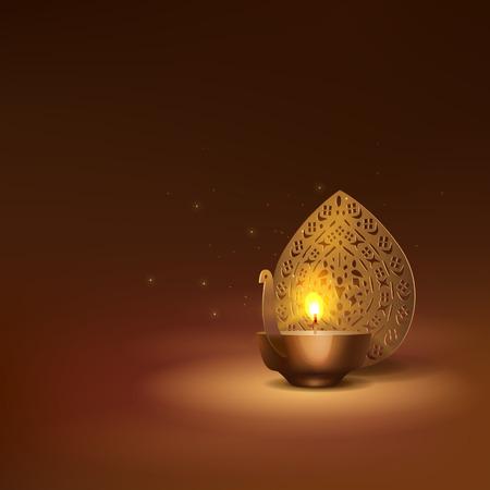 Deepavali greetings background Zdjęcie Seryjne - 119123423