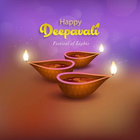 Deepavali greetings design Illustration
