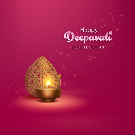 Deepavali greetings design 向量圖像