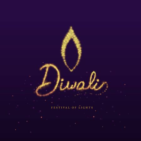 Festival of lights - Diwali 向量圖像