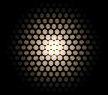 would: A Impostazione di diodi luminosi, fotografato in diverse fasi di esposizione per ottenere questo effetto di dettaglio, alla luce, che sarebbe altrimenti nascosto