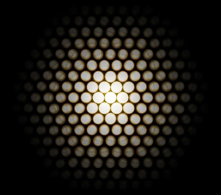 A Setting of light diodes, photographed at different stages of exposure to achieve this effect of detail in the light, that would be hidden otherwise