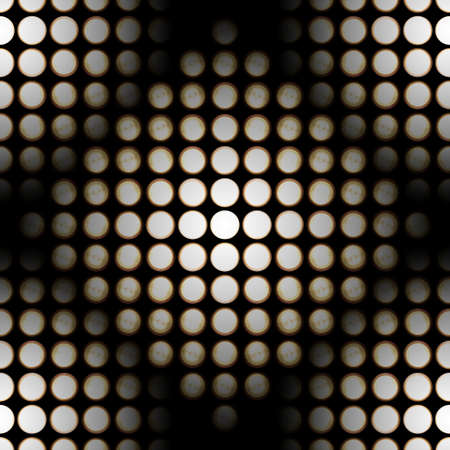 dimmer: Repeatable pattern of light diodes, photographed at different exposure times, to show this light effect. Stock Photo