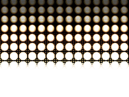 dimmer: Led light diodes, photographed at different exposures to make the detail appear. In the background is a halftone effect, that fades in the same colors.