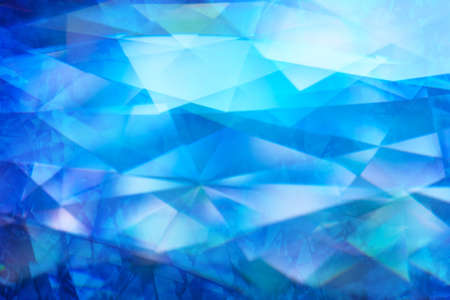 Abstract color refraction with layered closeup lights from diamond surfaces Stock Photo