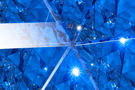 triangular surfaces moved, to open up another diamond texture in the background, forming a star shape in the center Stock Photo - 20919553