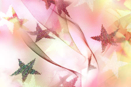 glittering stars on multi layered macro pictures of translucent fabric, giving a some abstract waves to it Stock Photo - 20919588