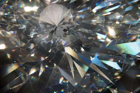 black diamond: formas laminares triangulares macro diamantes sobre un terreno de cuero, con un peque�o diamante sobre ellos