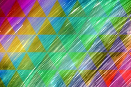 light motion rays with rainbow reflections and a transparent triangular pattern
