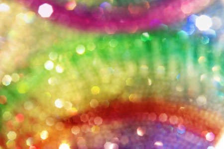 soft rainbow circles background, with colorful bokeh highlights Stock Photo