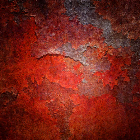 metal textures: Rusty metal textures with a enhanced burned colors effect Stock Photo