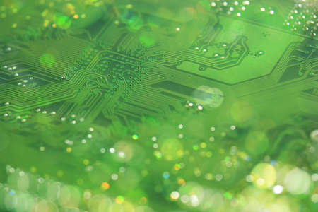 industrial background: Mainboard Bokeh Stock Photo