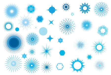 flowerhead: Crystallized frozen light collection for Christmas in wintertime Illustration
