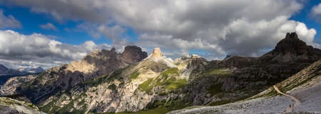 The Dolomites, view from the Three Peaks.