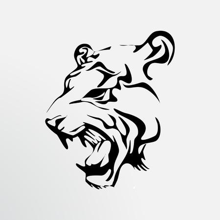 illustration black tiger Фото со стока - 24505886
