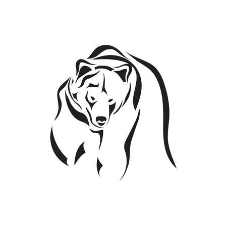 oso negro: Vector art�stico bosquejo del tatuaje de los animales