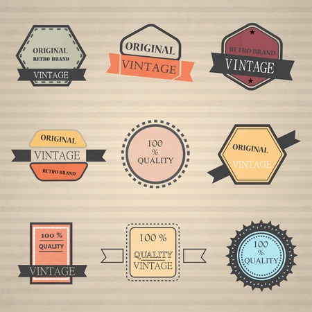 Vector set of retro vintage icons Vector
