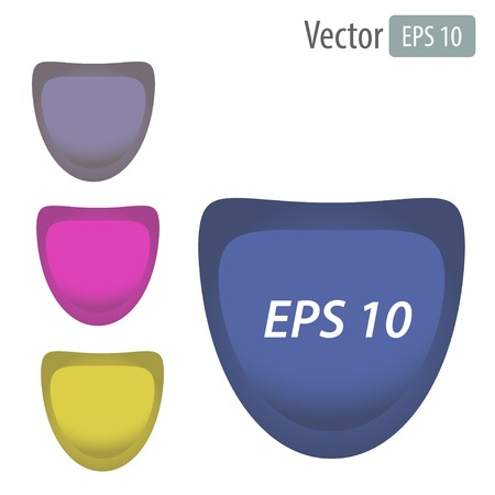 Vector set of colorful 3d buttons with text Vector