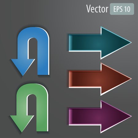 Vector arrows set with text Vector