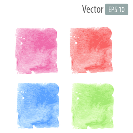 Vector watercolor stains with space for text Vector