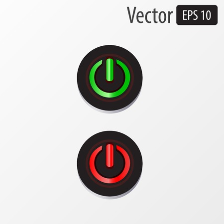 Vector power sphere buttons isolated on white background Vector
