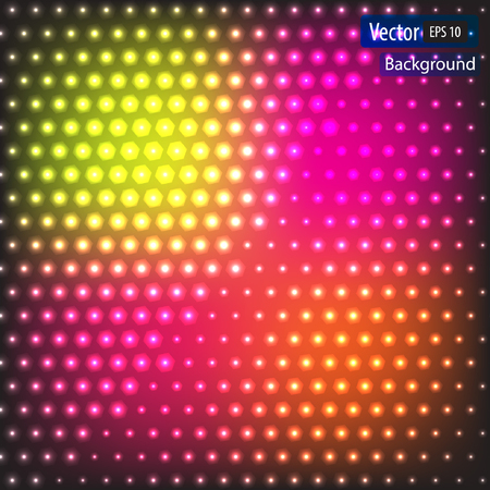 Vector dynamic abstract background with bright circles