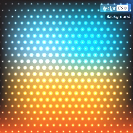 psychedelia: Vector dynamic abstract background with bright circles