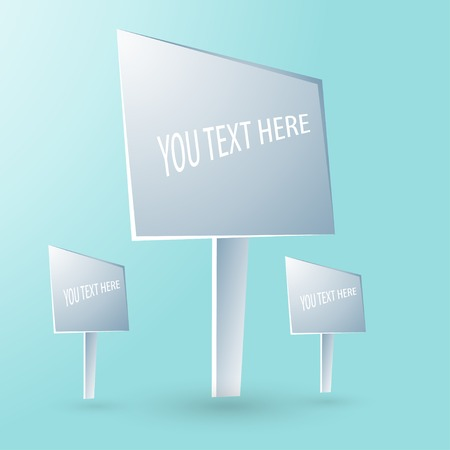 Vector background with text stand. Vector