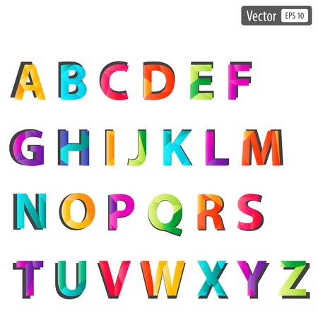 colourful alphabet set. Фото со стока - 29345260
