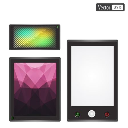 set of realistic electronic gadgets.  Vector