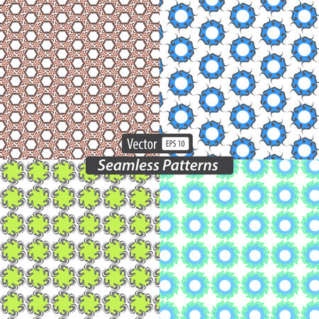 set seamless patterns background. Vector