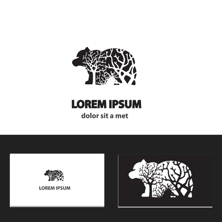 Abstract vector logo design template with business card. eps 10 Vector