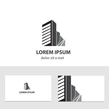 유행: 비즈니스 카드와 추상적 인 벡터 로고 디자인 템플릿