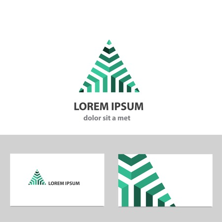 design logo: Abstract vector logo design template with business card