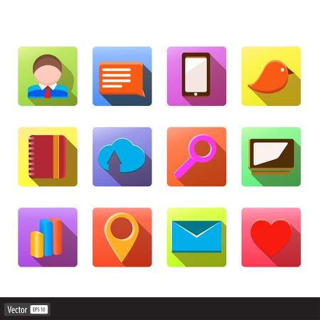 Set of 100 social media icons Vector