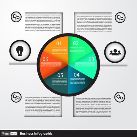 Modern business Infographics circle for business Vector