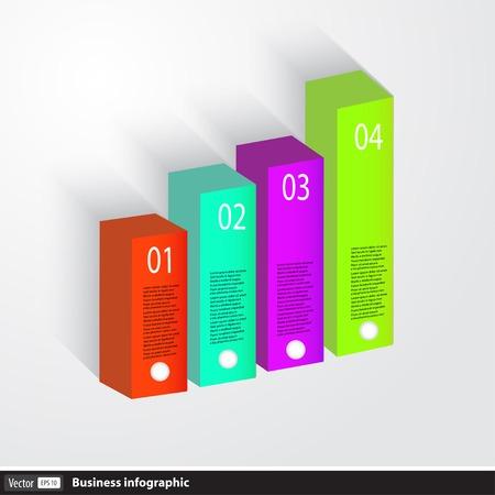 Business Infographics 3dgraph Vector