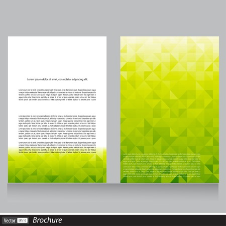 Vector brochure aziendale con lo spazio per il testo Archivio Fotografico - 31434656