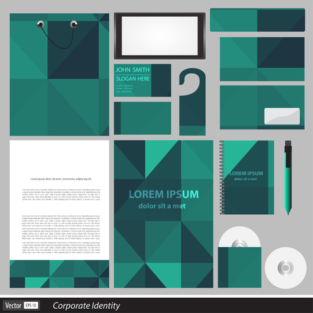 documentation: Classic stationery template design. Documentation for business. Illustration